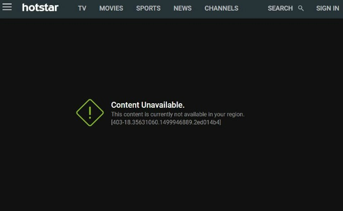 Hotstar Content is Not Availabe in Your Region