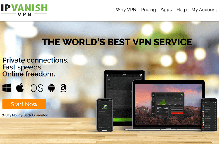 IPVanish VPN Website
