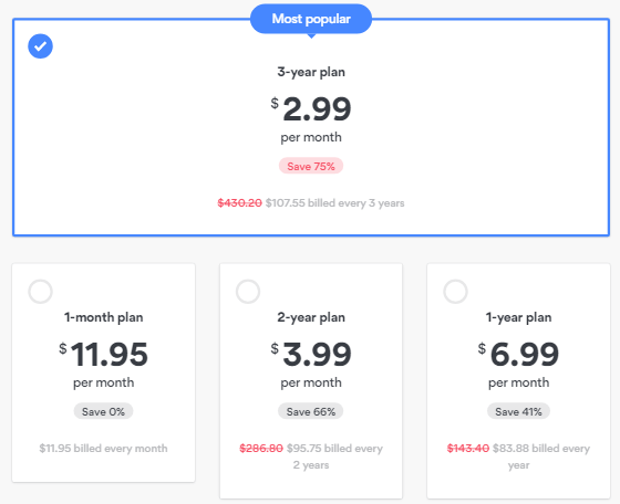 NordVPN Price and Discount