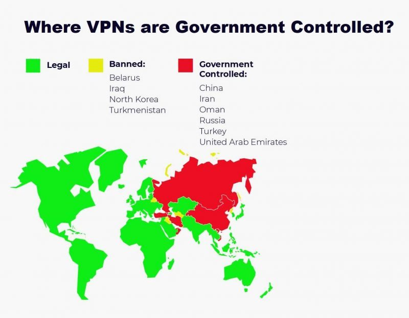 Where VPNs are Government Controlled