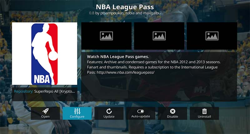 NBA League Pass configure