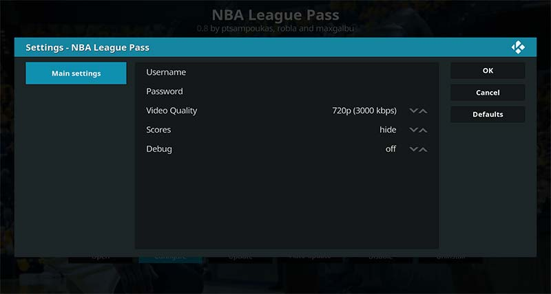 NBA League Pass username password
