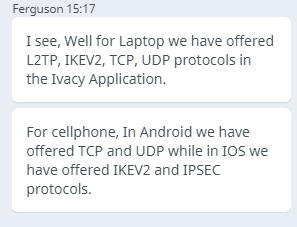 Ivacy IKEv2 Support