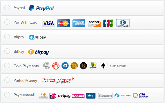Ivacy Payment Options