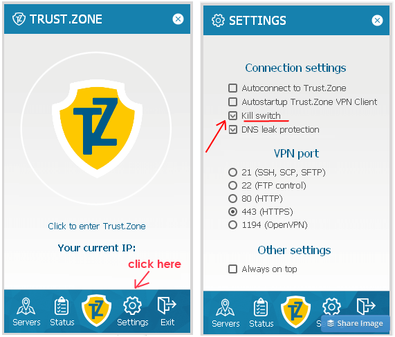 Trust.Zone VPN Internet Kill Switch