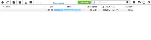 BitTorrent Scene DOwnload Speed
