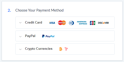 SaferVPN Payment Methods