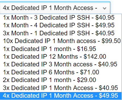 VPNSecure Dedicated IP Price