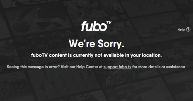 FuboTV not Available