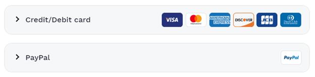 Hotspot Shield payment methods