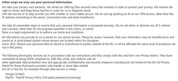 Unblockr User Information